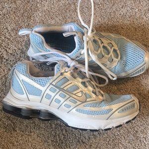 Nike Shox Zoomair light blue tennis shoes sneakers